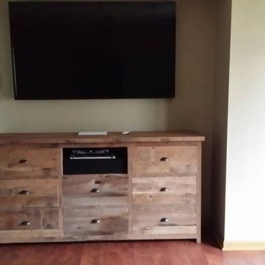 Custom Made Reclaimed Barn Wood Dresser Or Entertainment Center