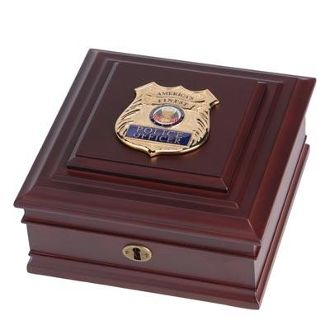 Custom Made Police Department Medallion Desktop Box