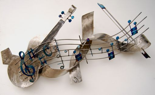 Custom Made Stainless Steel Violin And Sonata