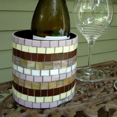 Custom Made Mosaic Wine Holder