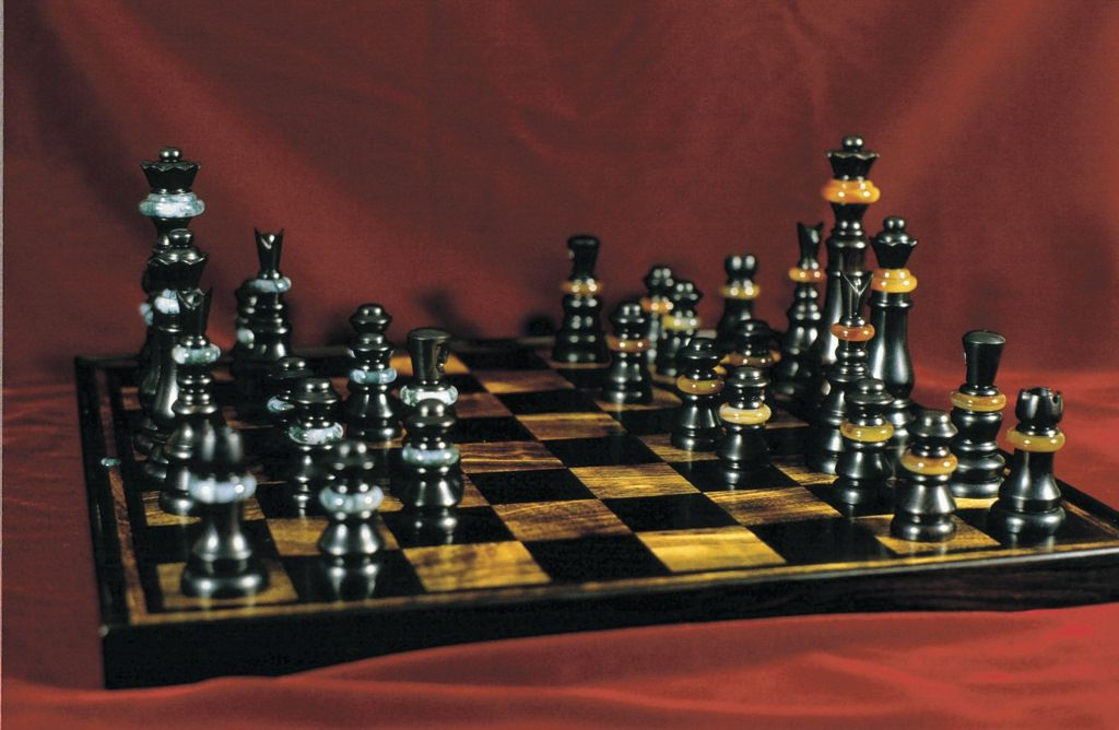 Custom Chess Board And Pieces By Joel Shepard Furniture