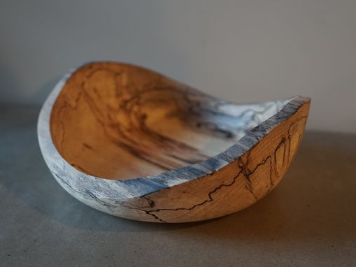 Custom Made Live Edge Spalted Beech Bowl 1/2