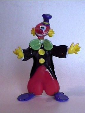 Custom Made Glass Clown Figurine