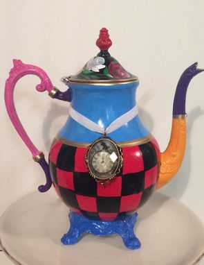 Custom Made Painted Teapot // Custom Painted Teapot // Whimsical Painted Teapot