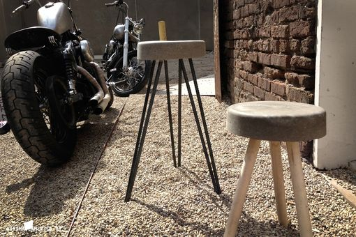 Custom Made Concrete Bucket Stool