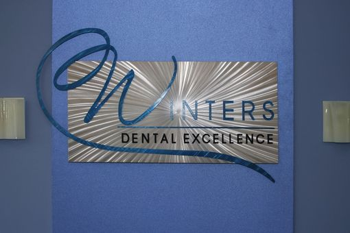 Custom Made Large Custom Metal Sign For Dentist Clinic