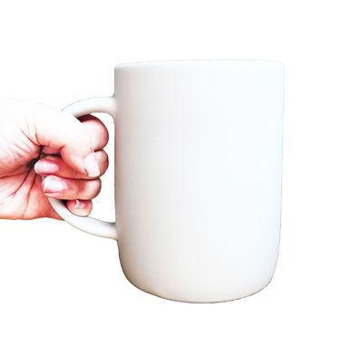 Custom Made Extra Large Matte Porcelain Usa Made Mug- White