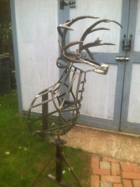 Custom Made Buck Head Sculpture