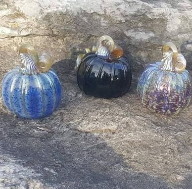 Custom Made Blown Glass Pumpkin