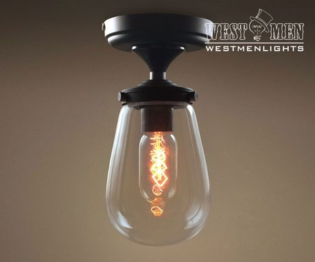 Custom Made Westmenlights Clear Glass Bubble Globe Mini Ceiling Lamp Chandeliers Flush Mount