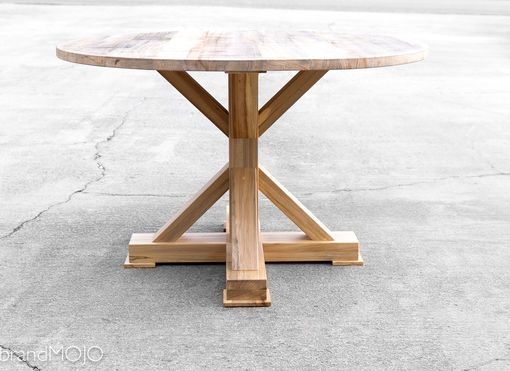 Custom Made Round Reclaimed Pedestal Dining Table