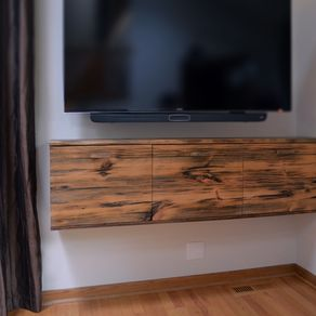 Rustic Floating Media Cabinet By Ron Cramer