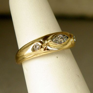Custom Made 14k Gold Ring With Diamonds