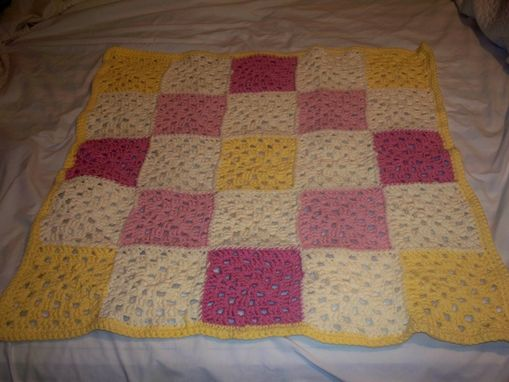 "Custom Made Custom, Made To Order Baby Blanket Granny Square Pattern 32""X32"""