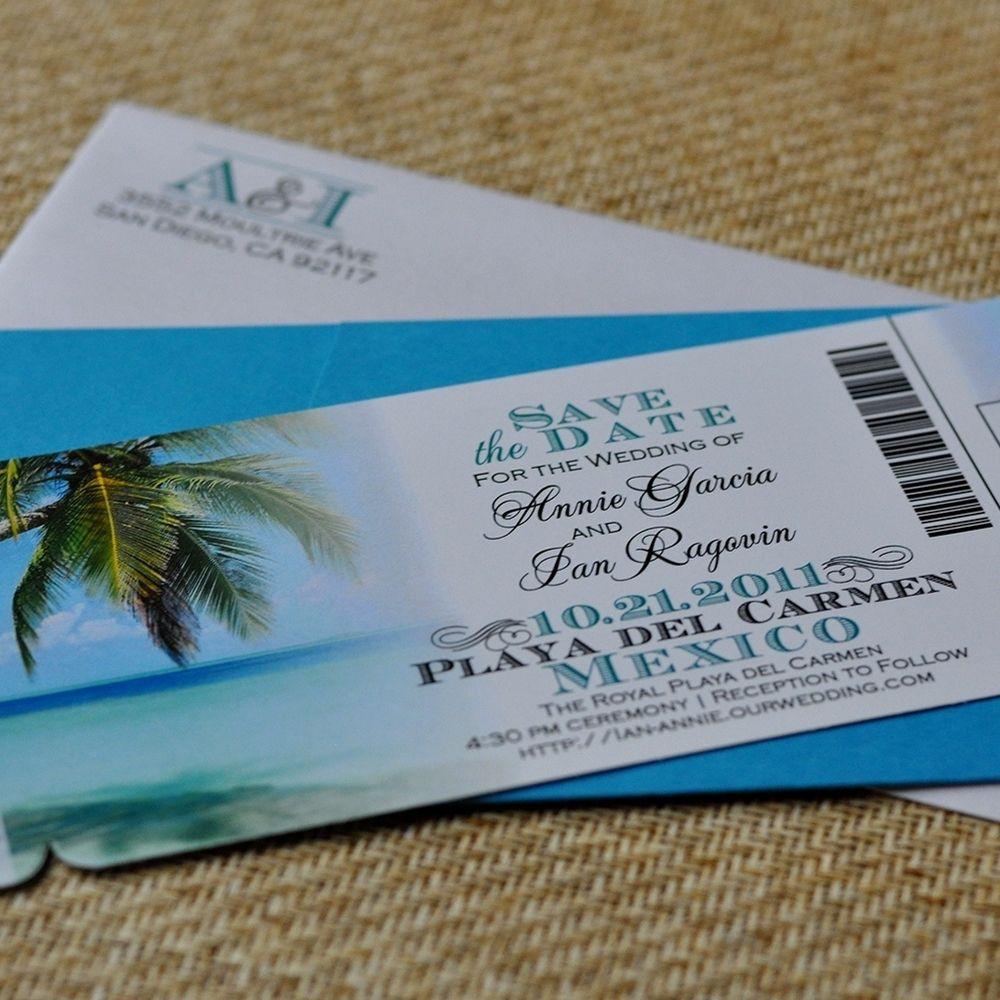 Custom Design Fee Boarding Pass Invitation Or Save The Date