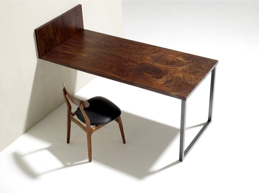 Custom Made Walnut And Steel Folding Dining Table By Anand Gowda Design