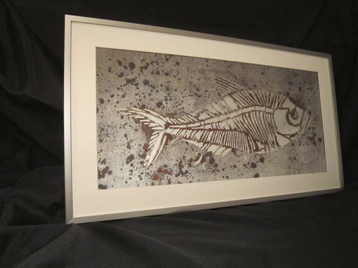 Custom Made Fine Art - Verre Eglomise & Antiqued Mirror - Copper Fish