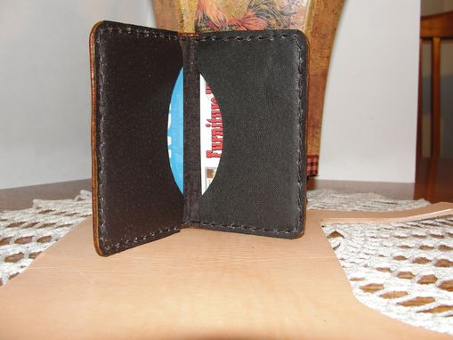 Custom Made Leather Credit Cards Or Business Cards Wallet