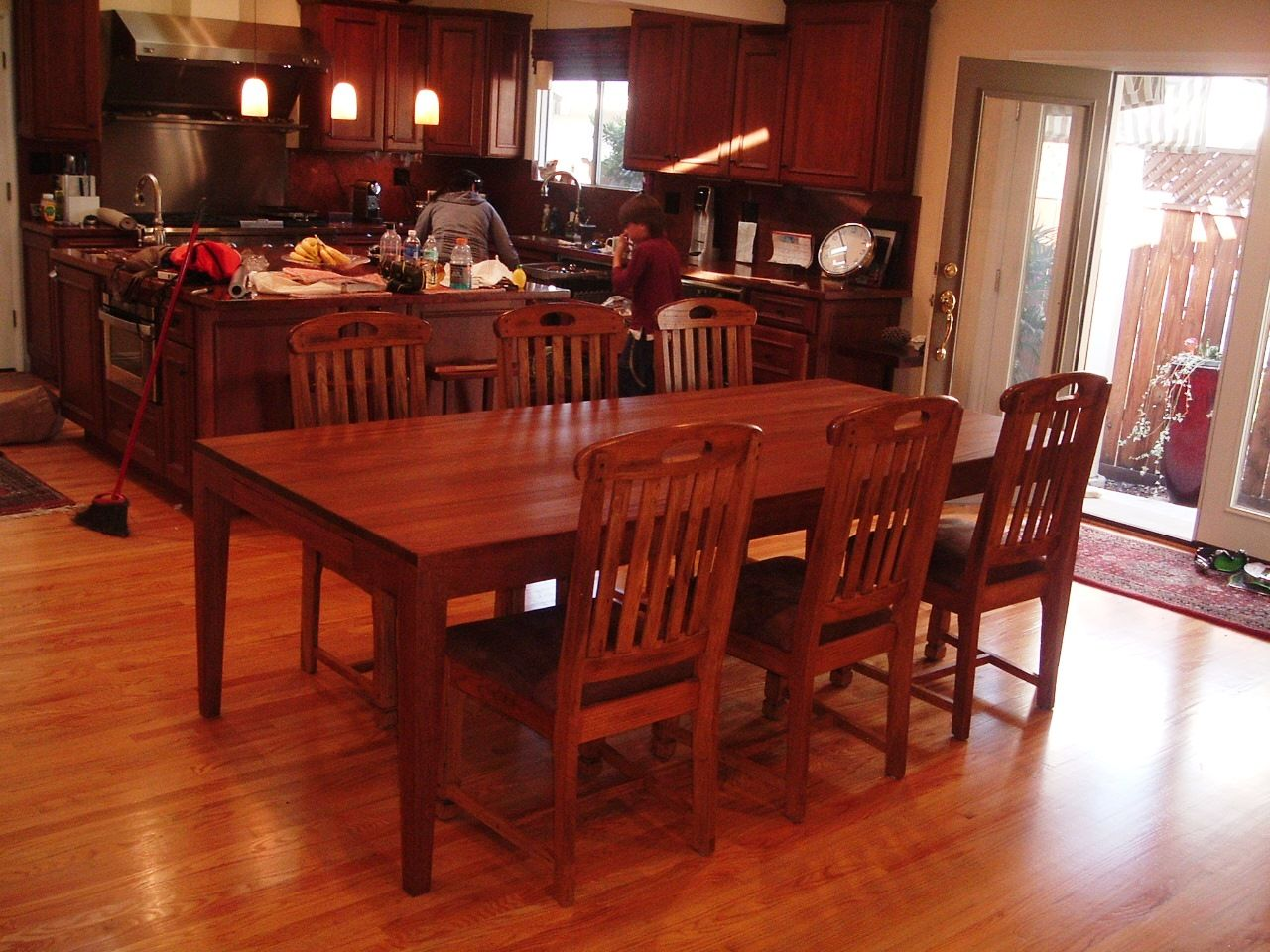 Hand Crafted Suzanne S 8 Foot Long African Mahogany Dining Table By Jonathan Walkey Furniture Maker Custommade Com