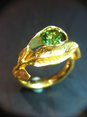 Custom Made Twig And Leaf Ring