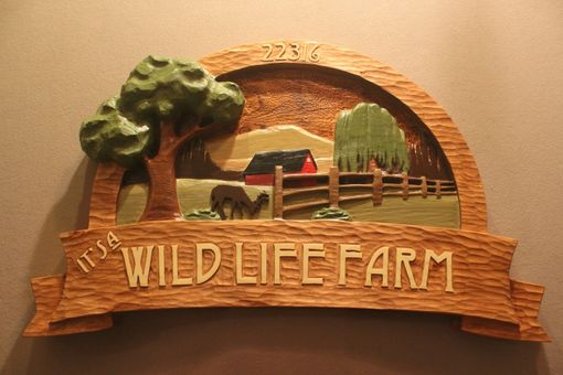 Custom Made Custom Carved, Hand Made Farm Signs, Wildlife Signs, Deer Signs By Lazy River Studio