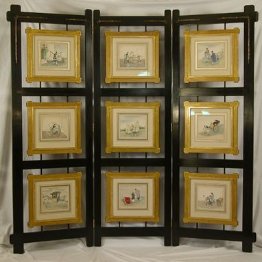 Custom Made Folding Screen With Original Chinese Paintings