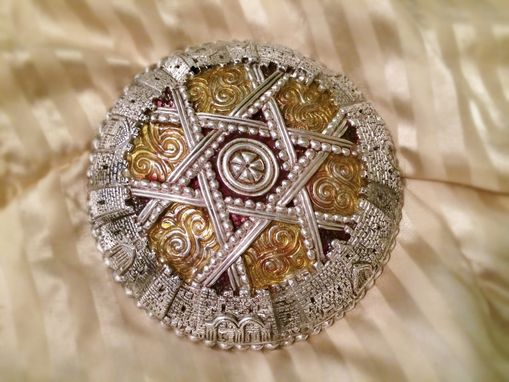 Custom Made Silver Kippa Yamaka