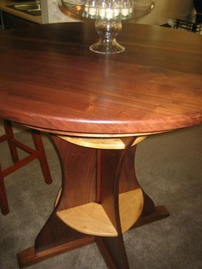 Custom Made Black Walnut And Ash Tall Dining Table.