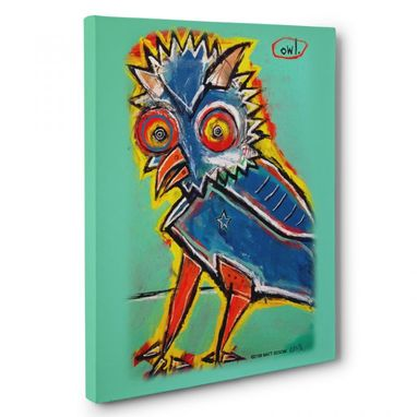 Custom Made Owl Canvas Wall Art By Matt Sesow