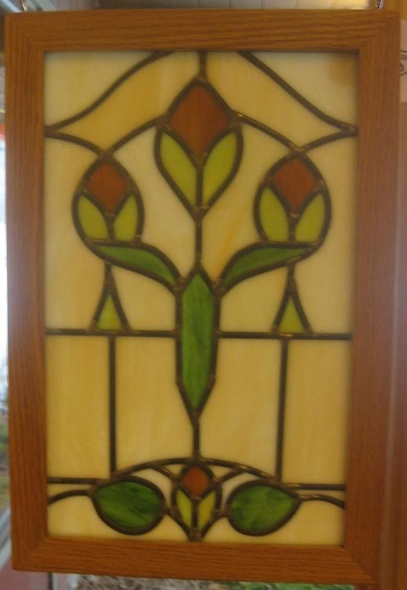 Custom Made Art Nouveau Stained Glass By Phb Stained Glass
