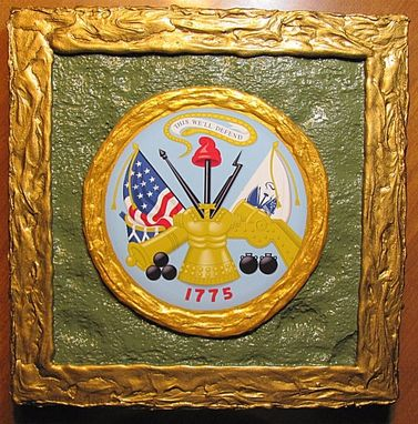 Custom Made U.S. Army Emblem Wall Art