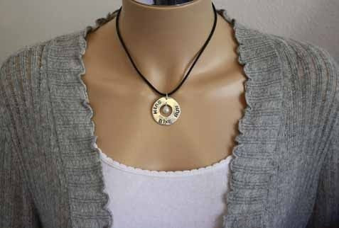 Custom Made Fine Silver - Circle Of Life Pearl Necklace - $75