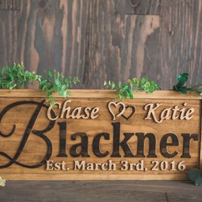 Personalized Family Name Sign Wedding Gift Custom Carved Wooden Signs Anniversary Wood Plaque