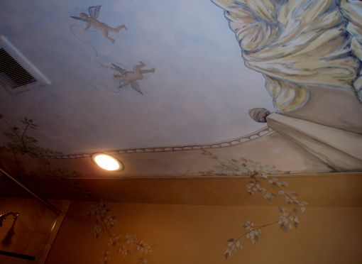 Custom Made Painted Ceiling To Open Your World