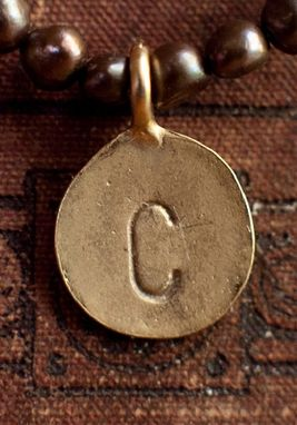 Custom Made Large Gold Plated Custom Monogramed Charm