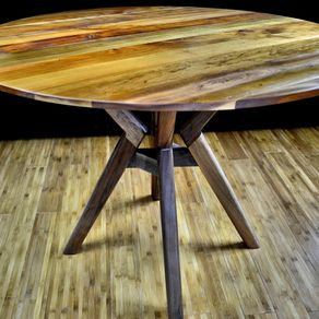 dining table atlas  inch round table solid cherry top solid walnut base: 40 inch round pedestal dining table
