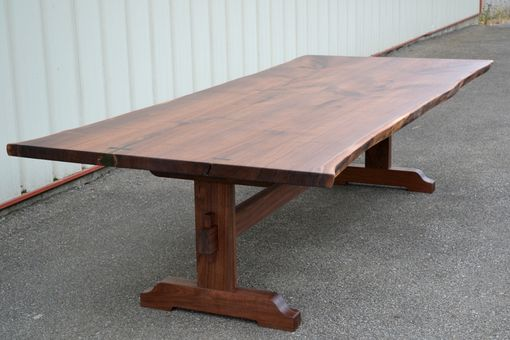 Custom Made Ten Foot Long Live Edge Walnut Dining Table