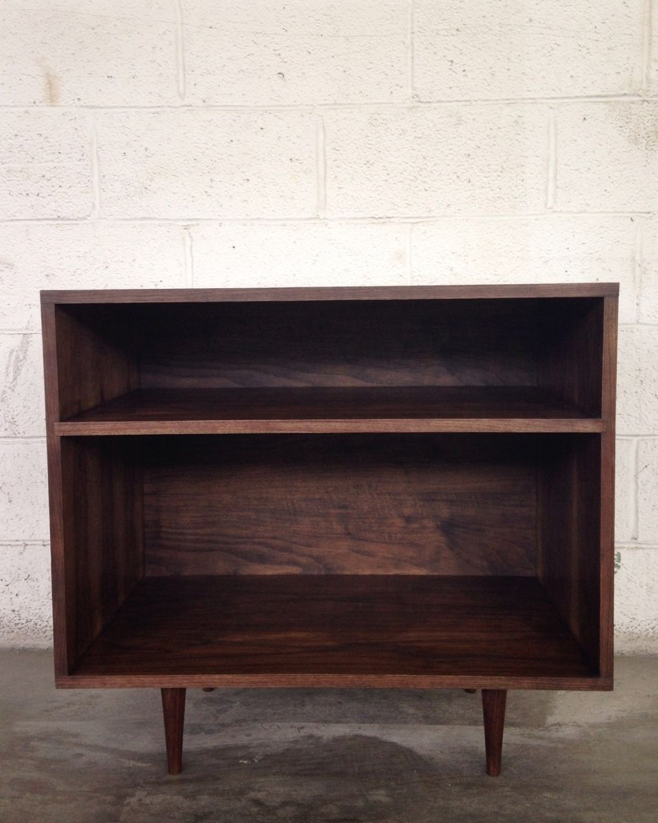 Buy a Hand Made Mid Century Modern Record Cabinet In Walnut, made ...