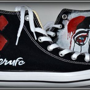 df3098decd6c57 Custom Made Marilyn Monroe Converse (Hand Painted) by PONKO WORLD ...