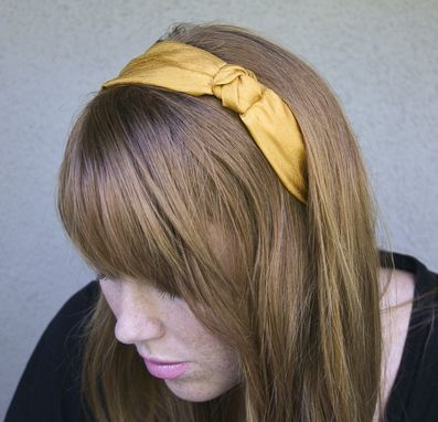 Custom Made Golden Knot Headband For Adult And Teens