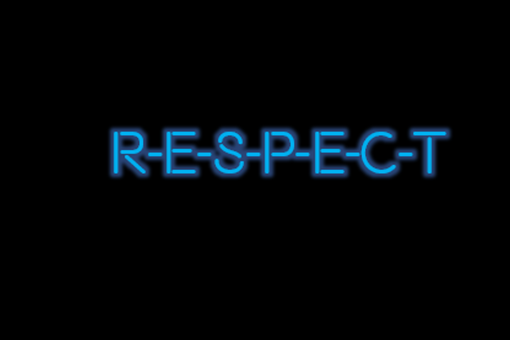 Custom Made Respect Neon Sign