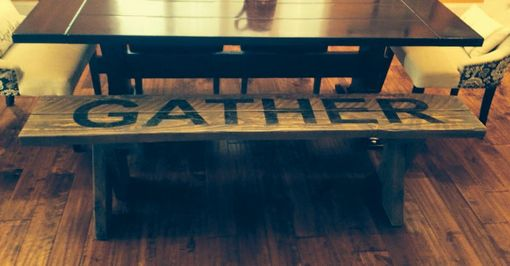 Custom Made Reclaimed Wood Gather Bench
