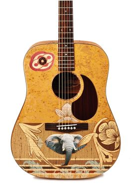Custom Made Modified Acoustic Guitar, Playable Art Instrument