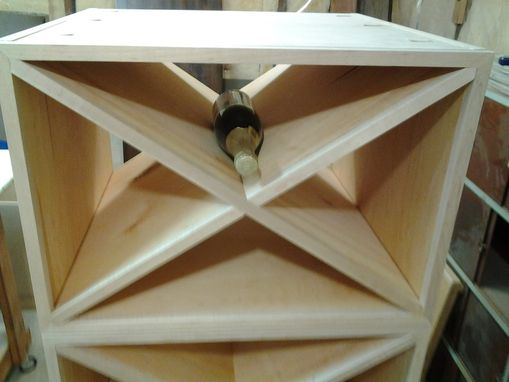 Custom Made Reclaimed Wood Wine Rack Stackable