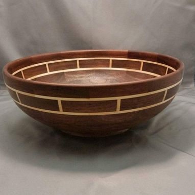 Custom Made Custom Walnut And Maple Bowl