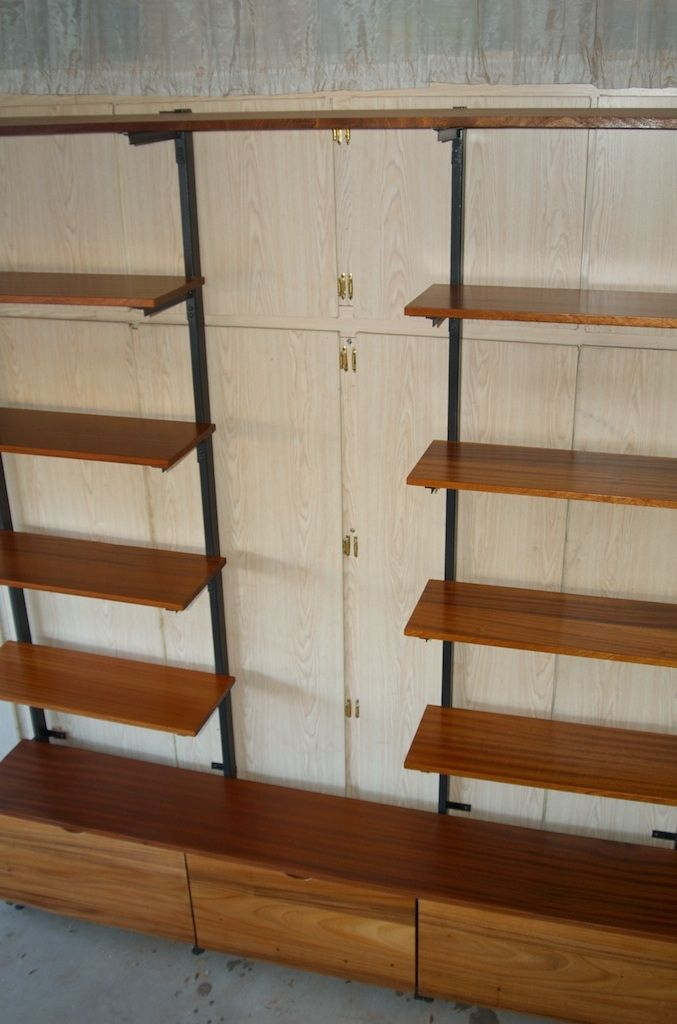 Hand Made Exotic Wood Amp Metal Shelf And Storage Unit By Intrigue Custom Creations Custommade Com
