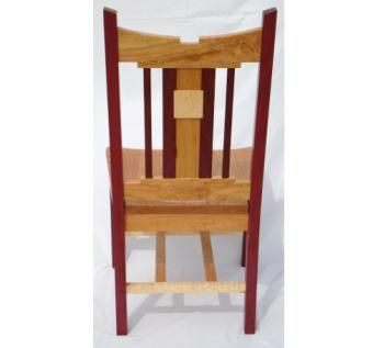 Custom Made Custom Designed Purple Heart, Birdseye Maple And Black Cherry Dining Chair