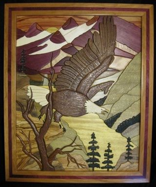 "Custom Made ""Eagle's Realm""  Intarsia"
