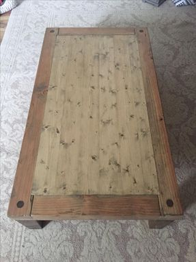 Custom Made Low Chunky Farmhouse Rustic Coffee Table