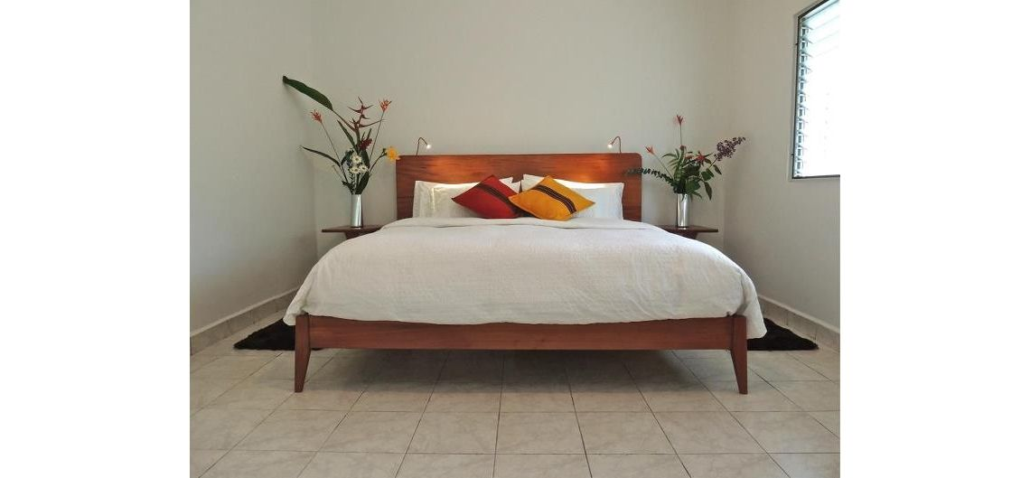 Hand Made Solid Wood Platform Bed by Marco Bogazzi | CustomMade.com